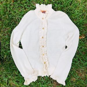 Tory Burch cream cardigan